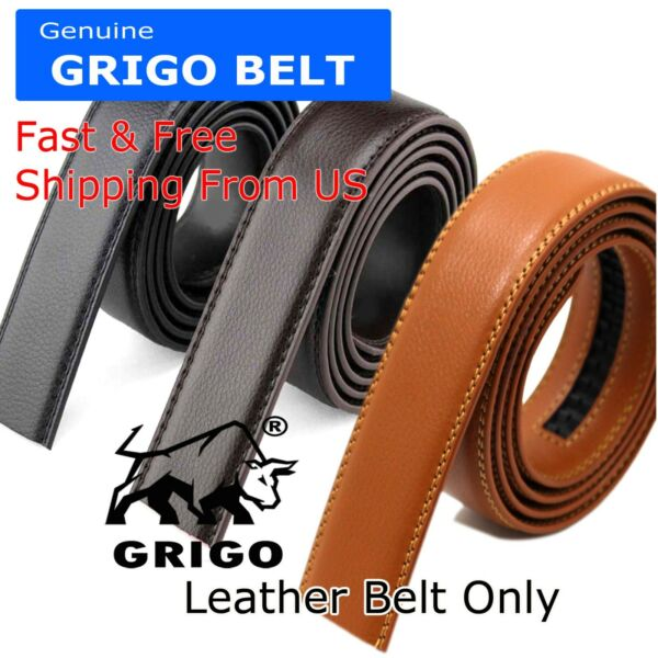 Fashion Men#x27;s Automatic Real Leather Ratchet Belt Strap Jeans Waistband Gift