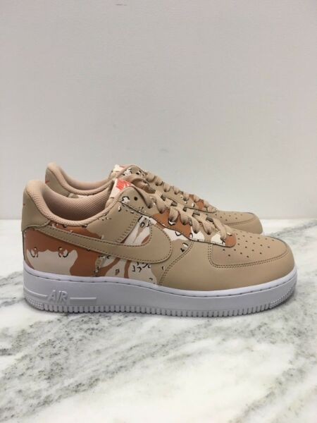 Mens Nike Air Force 1 07 LV8 Bio Beige Brown Camo 823511 202 AF1 Orange Premium
