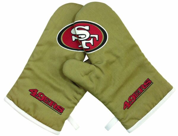 Oven Mitts Set - Crossover - BBQ Kitchen - NFL - San Francisco 49ers