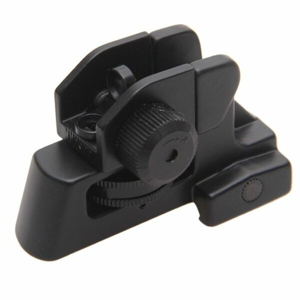 Rear Metal Iron Rifle Gun Sight with Picatinny Base - Adjustable Rear Sight