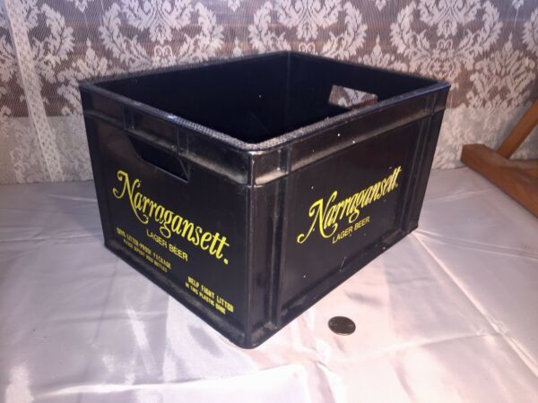 Vintage Narragansett Beer Crate Plastic Pony Size Rare Advertising Piece