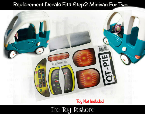 Replacement Stickers fits New Step2 Step 2 Minivan Van 42 For two Decals $9.99