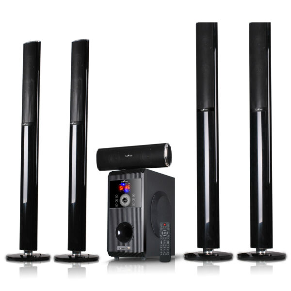 BLUETOOTH 5.1CH HOME THEATER SURROUND SOUND STEREO SPEAKER SYSTEM USB MP3 PLAYER