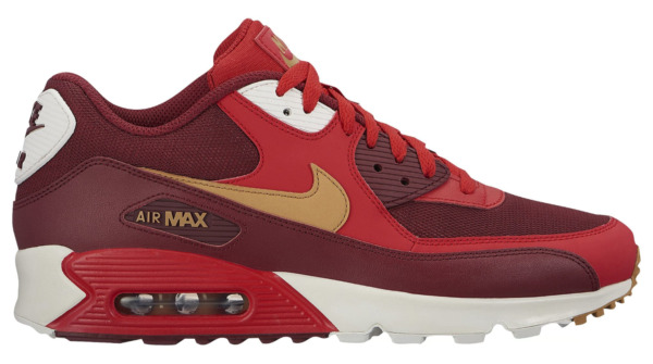 New NIKE Air Max 90 Essential Mens red burgundy all sizes