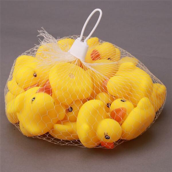 JZ_ 20Pcs Rubber Ducks Baby Kids Children Water Bathing Fun Toys Squeaky Eager