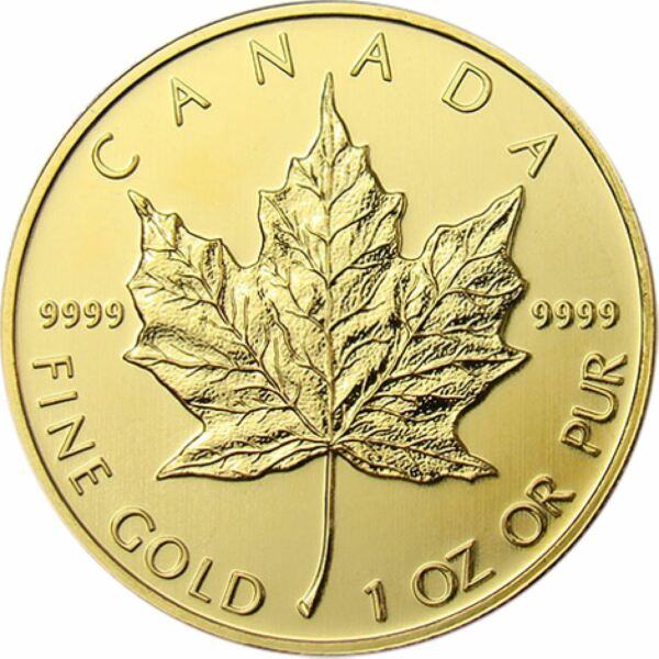 1 oz Gold Maple Leaf  Random Dated Canadian Gold Coin
