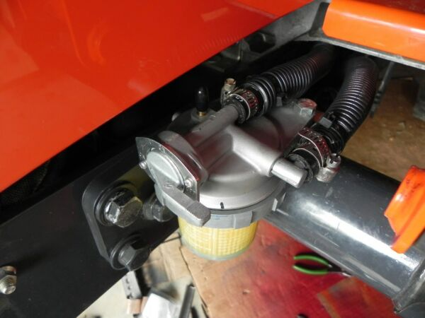 Kubota BX Fuel Filter relocation for BX Model tractors