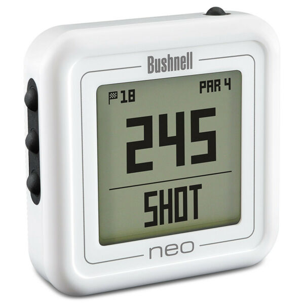Bushnell Neo Ghost Compact Golf GPS Rangefinder, White (Certified Refurbished)