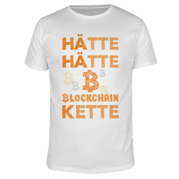Hätte Hätte Blockchain Kette Currency Dash Crypto Ethereum Ripple Moon Shirt