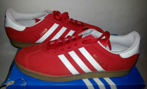 ADIDAS ORIGINALS CLASSIC GAZELLE 2 RED/GUM MENS SHOES  SIZE 13