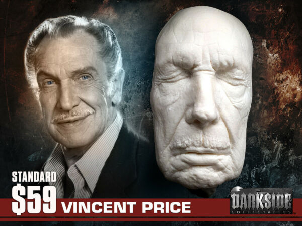 NEW Vincent Price LIFE-SIZE Life Cast Life Mask in Lightweight White Resin