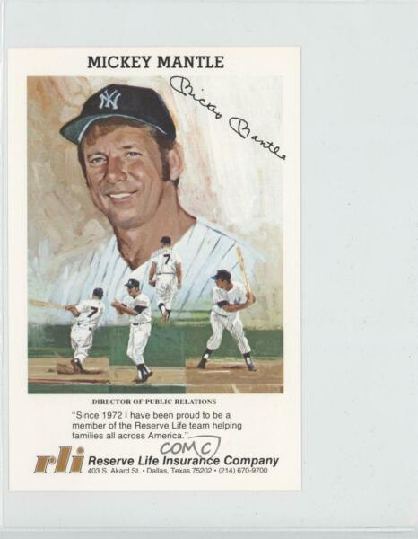 1980s Reserve Life Insurance Mickey Mantle HOF
