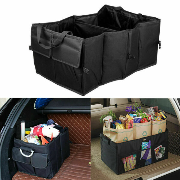 Car Trunk Organizer Cargo Suv Truck Storage for Groceries Folding Collapsible $16.92