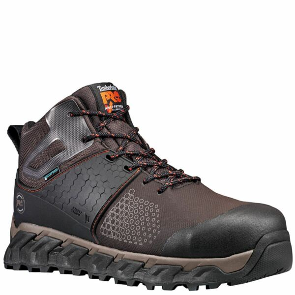 Timberland Boots Men Ridgework Composite safety Toe Waterproof BRN Leather A1KBO $134.95