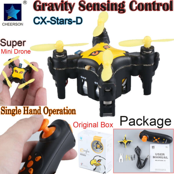 Cheerson CX-Stars-D Gravity Sensor Nano Pocket Drone RC Quacopter Height Hold