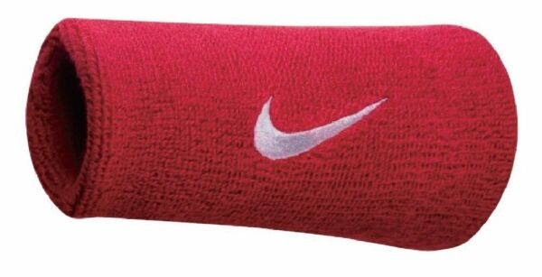 Nike Swoosh Wristbands Doublewide Double Wide 1 Pair 82816 Varsity Red
