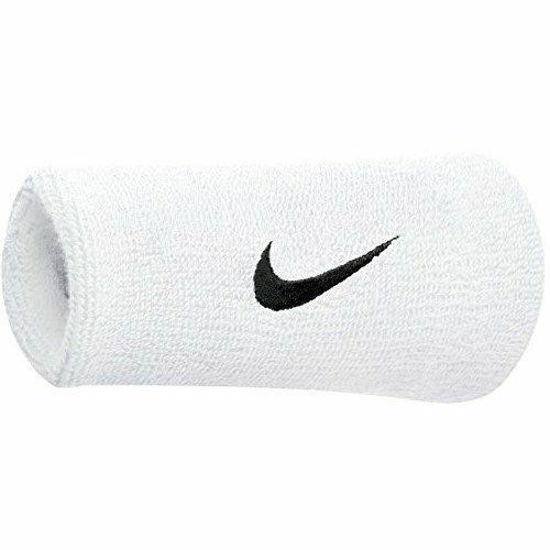 Nike Swoosh Wristbands Doublewide Double Wide 1 Pair 82816 White