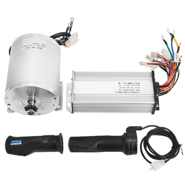 48V 1800W Electric Motor Brushless Speed Controller Scooter Throttle Twist Grips $119.98