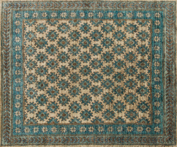 9'x13' Loloi Rug Nomad Jute Beige Ocean Hand-knotted Transitional NM-01