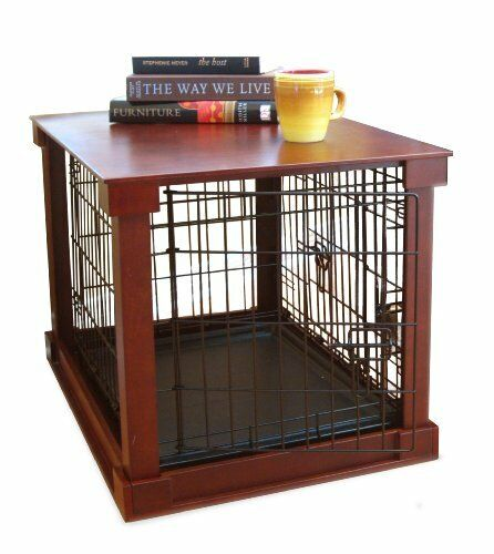 Dog Kennel End Table Crate For Extra Large Dogs cage Indoor Home Dec Wood wire