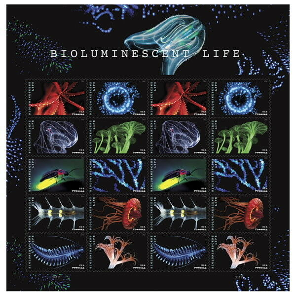 USPS New Bioluminescent Life Pane of 20