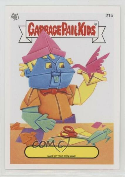 2014 Topps Garbage Pail Kids Series 1 Make up Your Own Name #21b Up Card 2ts
