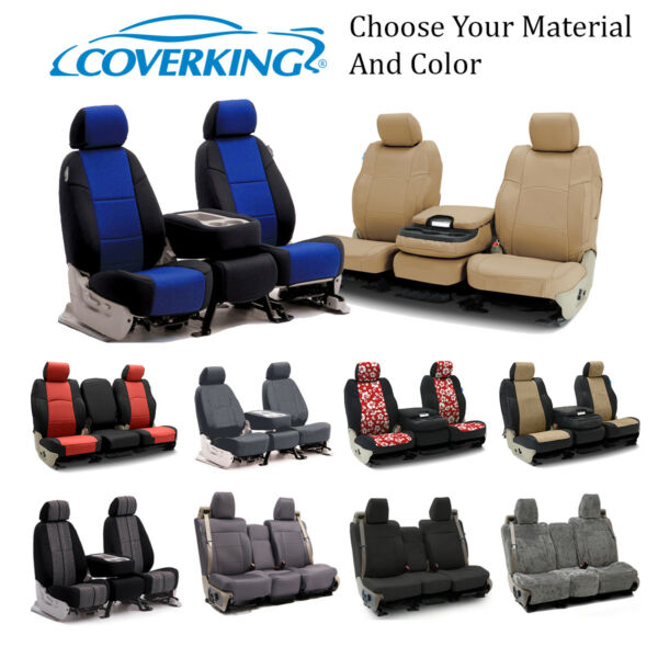 Coverking Custom Front and Rear Seat Covers For Toyota Cars