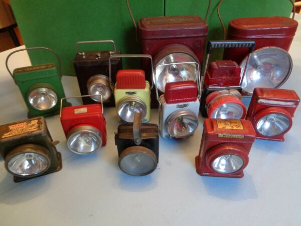 LARGE COLLECTION OF ANTIQUEVINTAGE ELECTRIC LANTERNS