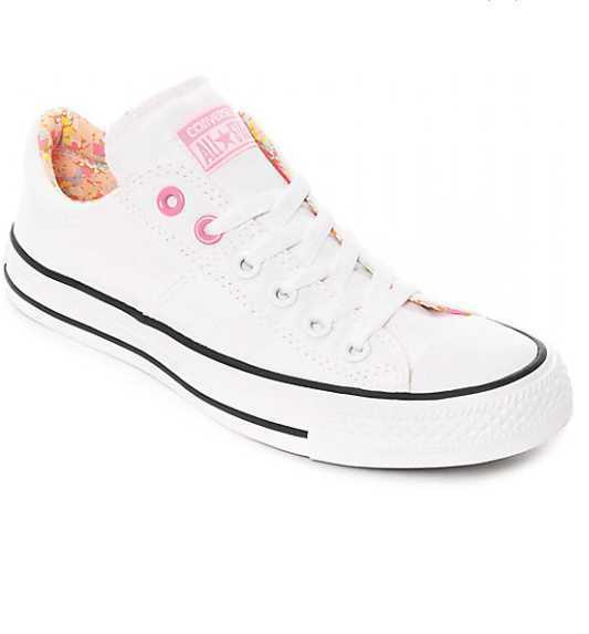 NEW WOMEN'S 6.5 9 CONVERSE CHUCK TAYLOR ALL STAR MADISON WHITE PINK SKATE SHOES