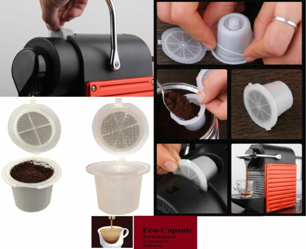 5pcs Newest Reusable Nespresso Capsule set Built In Stainless Steel Filter