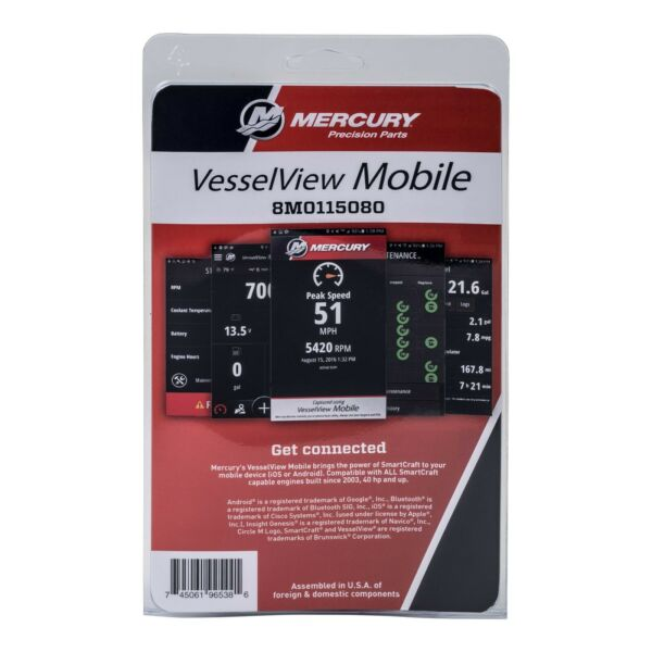 Mercury Smartcraft Vessel View Mobile Kit iOS or Android 8M0157078 8M0115080 $219.95