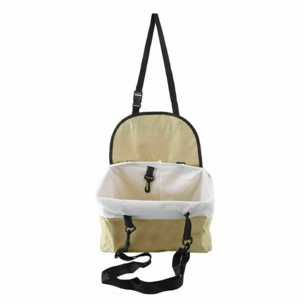 Portable Dog Booster Car Seat Carrier Bag for Pet Cat Puppy Safety Beige. Deal $9.99