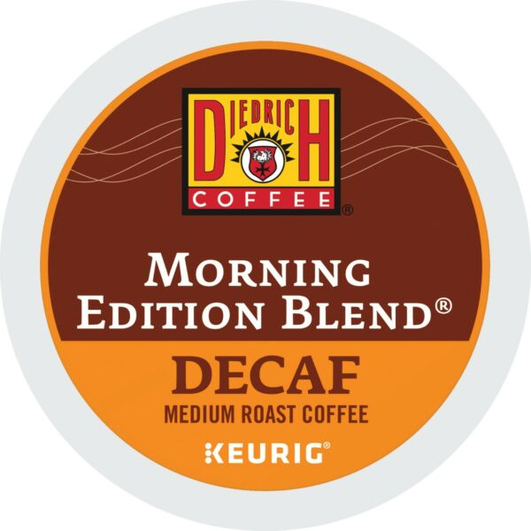 Diedrich Morning Edition Blend DECAF Coffee 24 to 96 Keurig K cups Pick Any Size