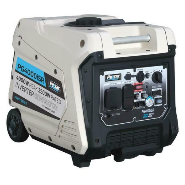 Pulsar 4000W Portable Inverter Generator w Electric & Remote Start PG4000ISR