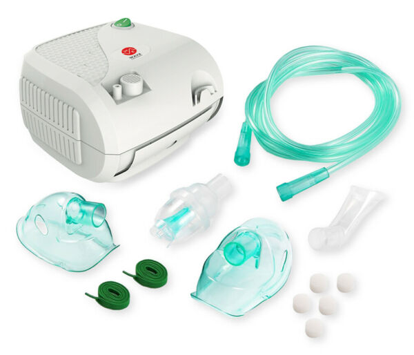 Compact Portable Nebulizer Machine with Travel Bag Adult and Child Mask Kits