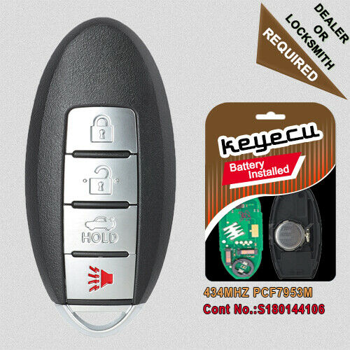Smart Remote Key Fob 3+1 Button 433.92MHz for Nissan Rouge 2014-2016 S180144106