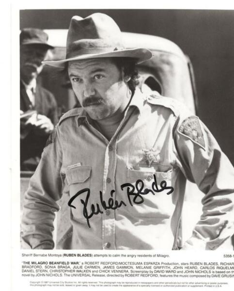 RUEBEN BLADE PANAMANIAN SINGER ACTOR SIGNED AUTOGRAPHED  8X10 PHOTO W COA