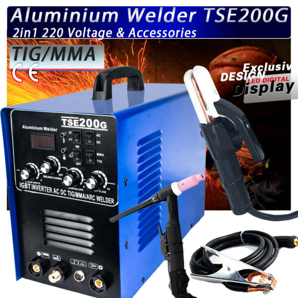 IGBT INVERTER ACDC TIGMMA Aluminum Welder TSE200G new generation of WSME-200