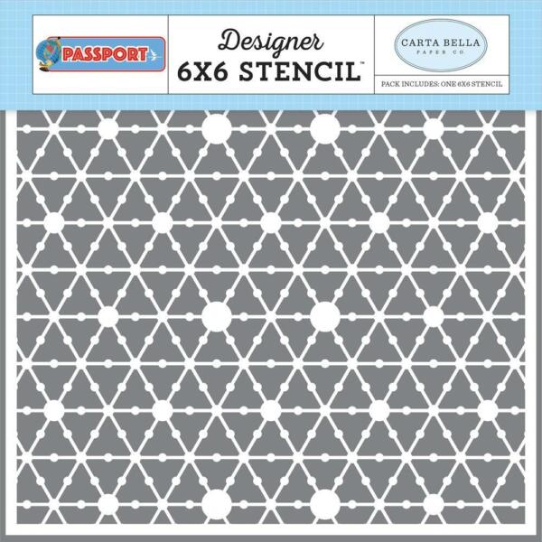 Scrapbooking Crafts Stencil 6X6 Passport Dot World Carta Bella Dots Connected