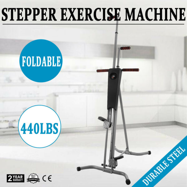 NEW Maxi Climber Vertical Stepper Exercise Fitness with Monitor