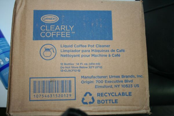 CASE OF 12  14oz Urnex Clearly Coffee Liquid Coffee Cleaner pot glass bowl