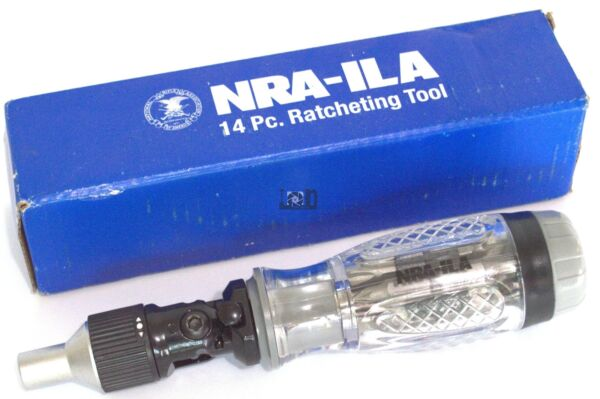NRA Knife Collection ILA 14pc Ratcheting Tool Screwdriver Multi Tools Collectibl $13.09