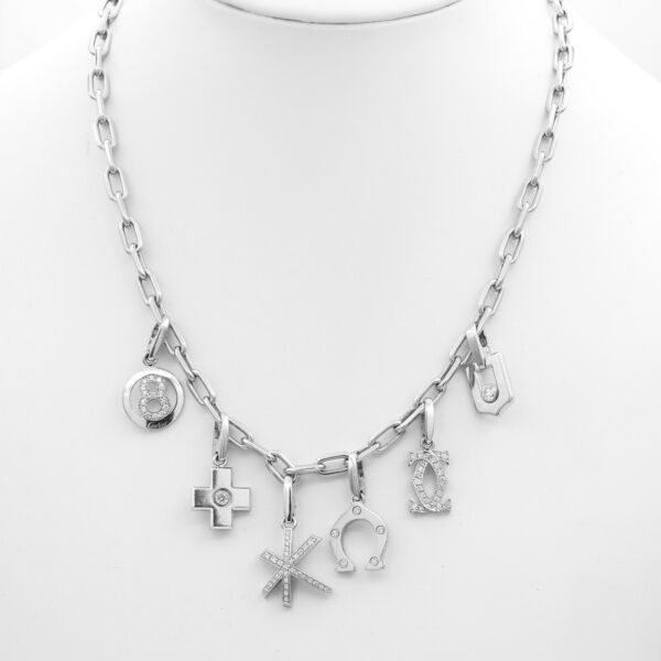 Cartier Multi-Charm Necklace 18k White GoldDiamonds