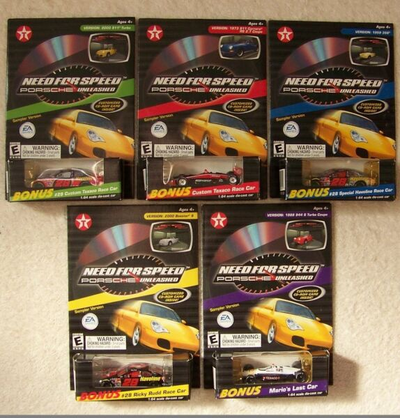 2000 Texaco Need For Speed Porsche Unleashed Ricky Rudd Complete Set of 5
