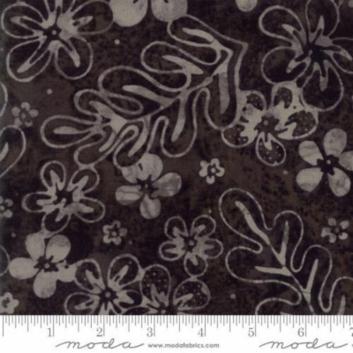COLLECTIONS SUNSHINE Hawaiian Flower Black Tonal Quilt Fabric by 1 2 Yard