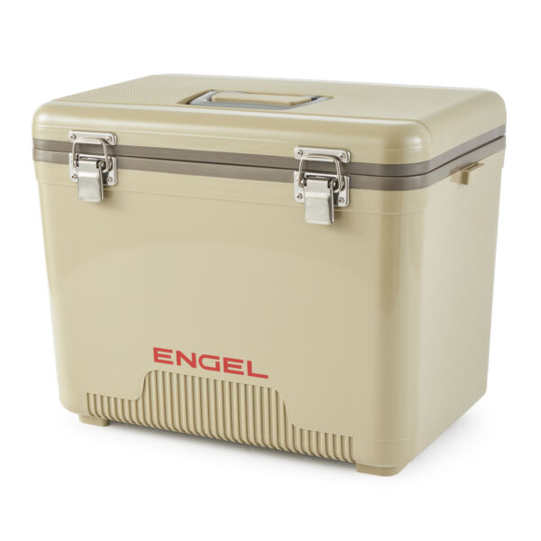 Engel Coolers 19 Quart 32 Can Capacity Lightweight Insulated Cooler Drybox Tan