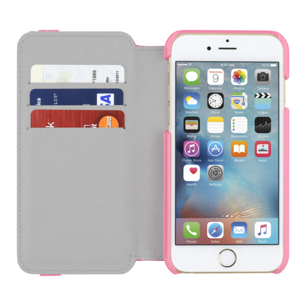 NEW Incipio iPhone 6S6 Watson Pink Wallet Folio Case Credit Card ID Cover Stand