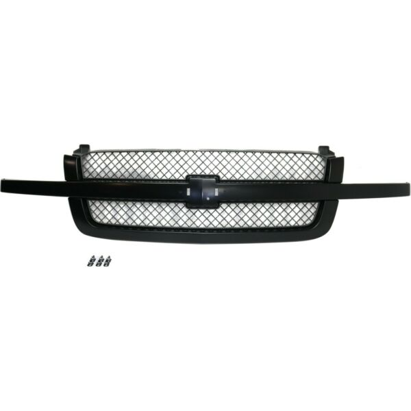 Grille Assy Paint to Match with Gray Insert For 2003 07 Chevy Silverado Old Body