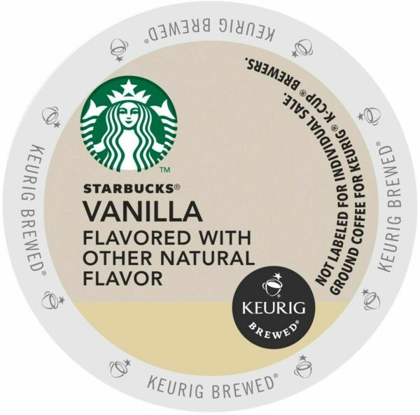 Starbucks Vanilla Flavored Coffee 16 to 64 Count Keurig K cups Pick Any Quantity