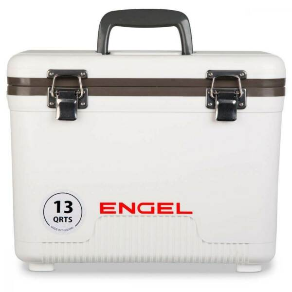 Engel 13 Quart Compact Durable Ultimate Leak Proof Outdoor Dry Box Cooler White